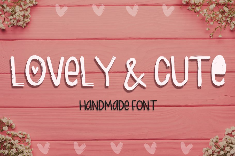 Lovely & Cute - 3 Handmade fonts!