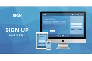 Responsive Signup Landing Page