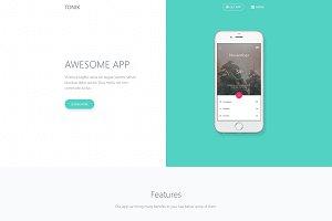 Tonix - Responsive App Landing Page