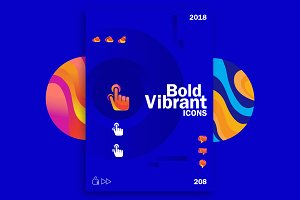 Bold Vibrant Icons