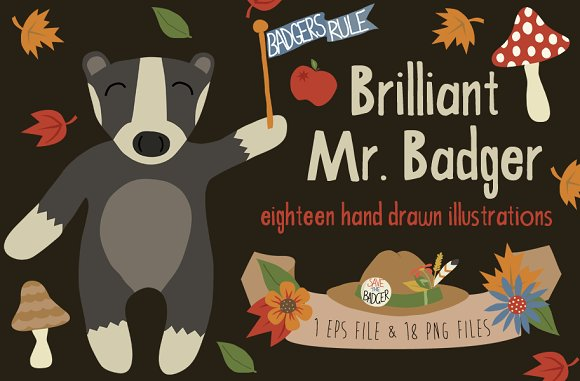 Brilliant Mr. Badger - Illustrations