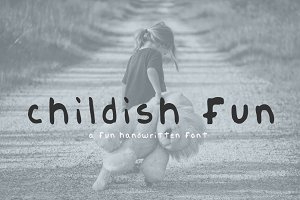 Handmade font - Childish Fun