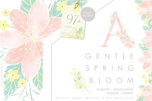 Gentle Spring Bloom & Monograms