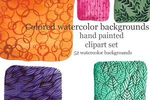 Watercolor backgrounds, raster