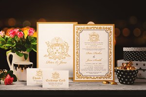 GOLDEN WEDDING INVITATION SUITES
