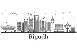 Outline Riyadh Saudi Arabia City