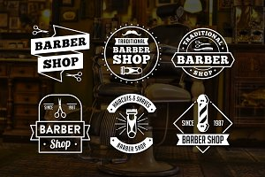 Vintage Barber Shop Logo & Badge