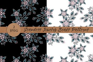 JEWELRY beads pearl seamless pattern