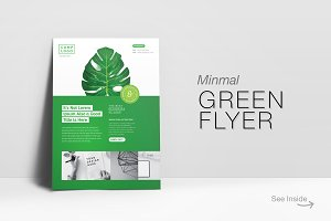 Green Flyer with Retro Leaf