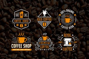 Vintage Coffee Shop Badge & Logo