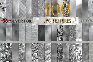 100 Silver JPG Textures