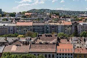 High angle view of Residential District in Budapest