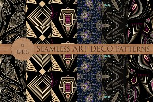 ART DECO seamless patterns pack