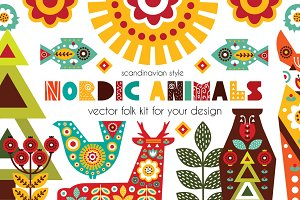 Nordic Animals - folk kit