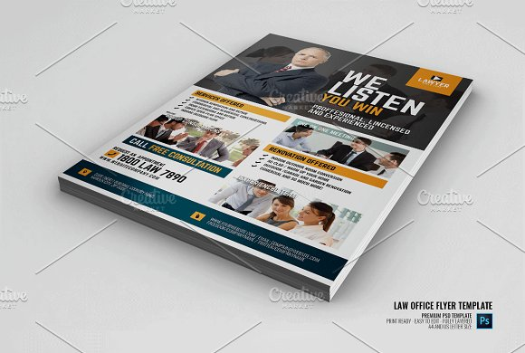 Law Firm And Legal Office Flyer Flyer Templates Creative Market