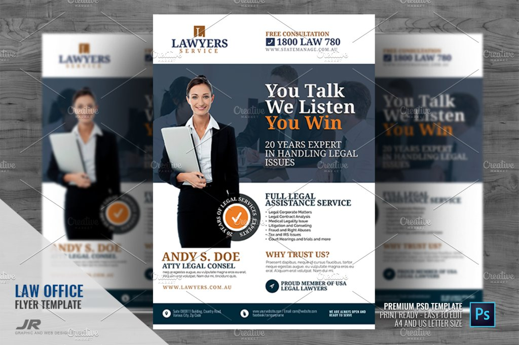 Legal Firm and Law Office Flyer ~ Flyer Templates ~ Creative Market