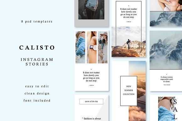 CALISTO | Instagram Story Templates in Templates