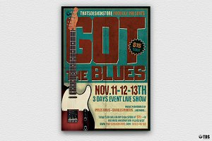 Blues Festival Flyer Template V1