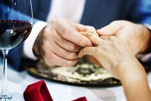 Couple celebrate valentine's day