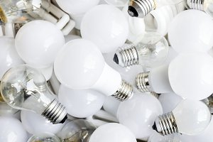 Closeup Light Bulbs