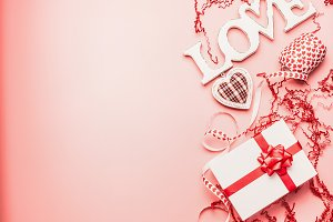 Valentines day background with LOVE