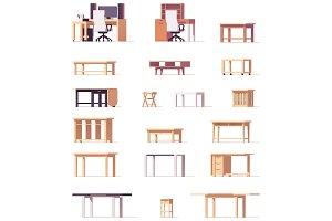 Vector table set