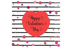 Valentine's day illustration.