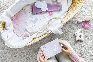 Baby girl baby shower concept