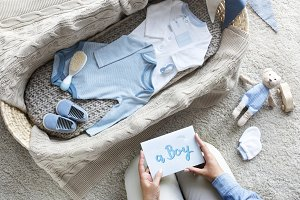Baby boy baby shower concept