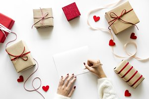 Love and romance concept gifts