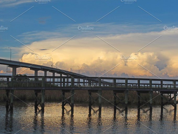 Apalach bridge with clouds.jpg - Architecture