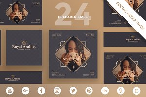 Social Media Pack | Coffeehouse