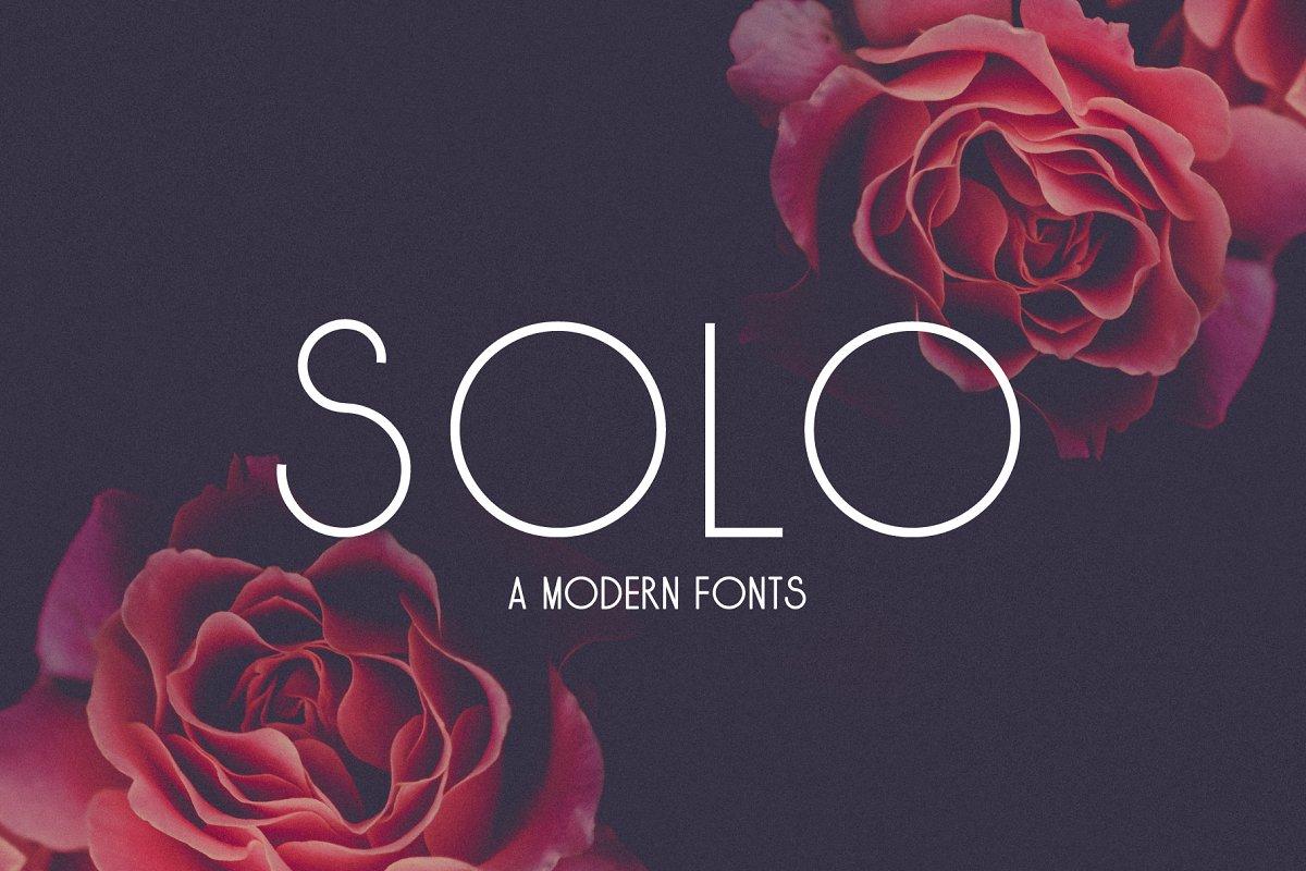 Solo ~ Sans Serif Fonts ~ Creative Market