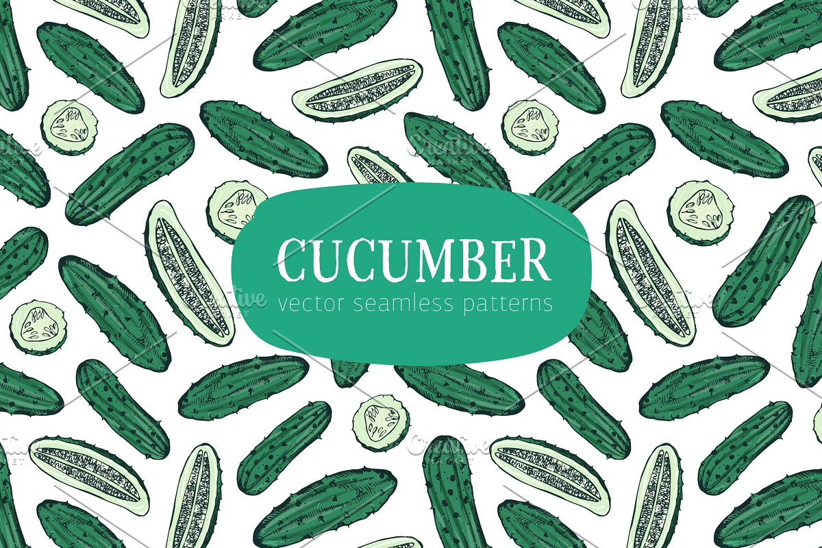 different cucumbers seamless