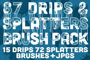 Drips & Splatters Brush Pack
