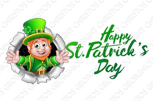 happy st patricks day leprechaun cartoon illustrations creative