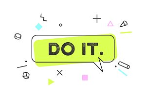 Do It. Banner, speech bubble