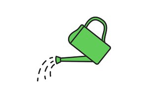 Watering can color icon