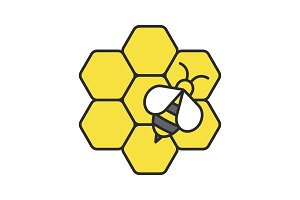 Beekeeping color icon