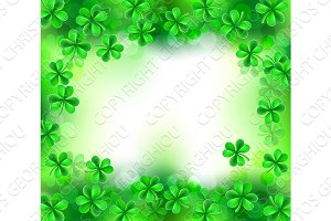 Shamrock Clover Leaves Sign Background