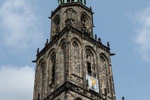 Martini tower in the city Groningen