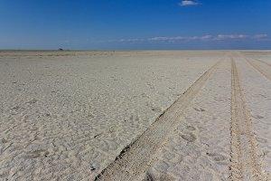4wd track saltpan Kubu Island