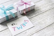 Pregnancy announcement, it's twins