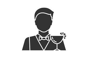 Barman glyph icon