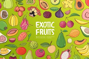 exotic tropical fruits bundle