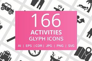 166 Activities Glyph Icons