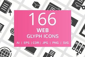 166 Web Glyph Icons