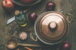 Autumn raw ingredients