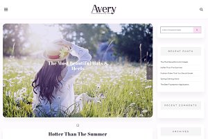 Avery Lite - WordPress Blog Theme