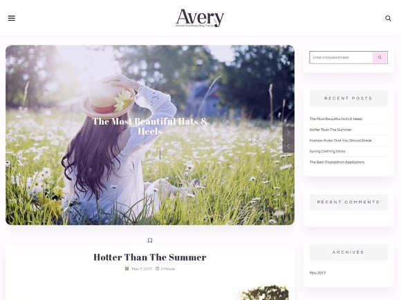 Avery Lite WordPress Blog Theme